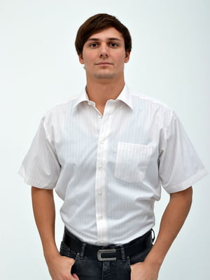 Сорочка молочного кольору в смужку | 5299252