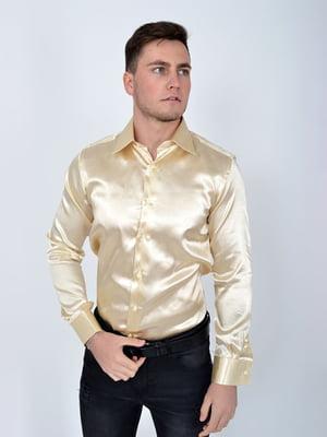 Сорочка кремового кольору в принт | 5299266