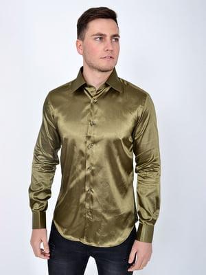 Сорочка кольору хакі | 5299274