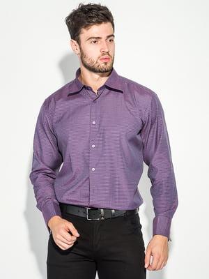 Сорочка чорнильного кольору з візерунком | 5299294