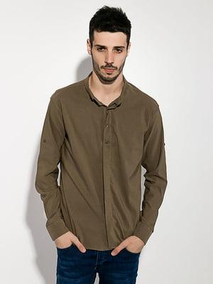 Сорочка кольору хакі | 5299307