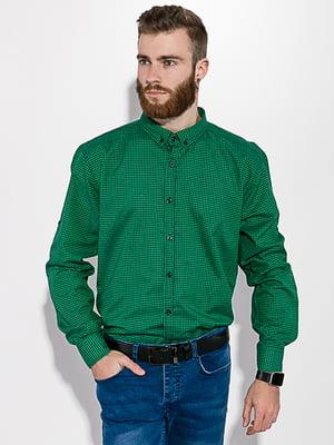 Рубашка зеленая в клетку | 5299330