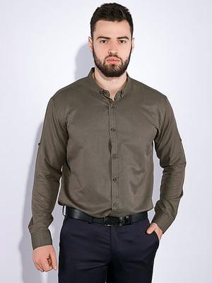 Сорочка кольору хакі | 5299334