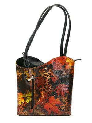 Рюкзак чорний з принтом | 5298670