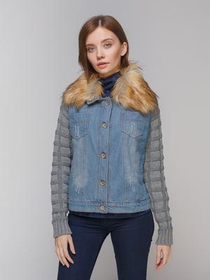 Куртка синьо-сіра | 3576015