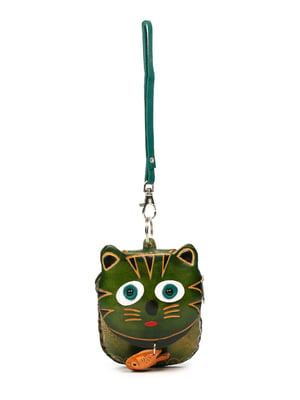 Брелок-ключница зеленый | 5298689