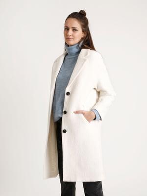 Пальто молочного цвета   5296542