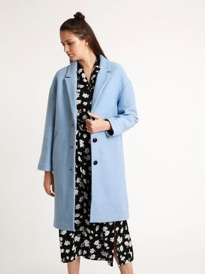 Пальто голубое   5296543