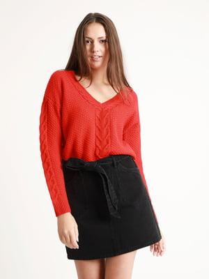 Пуловер красный   5296555