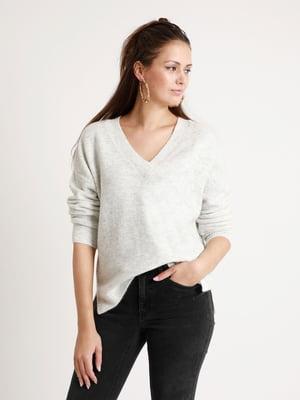 Пуловер светло-серый   5296566