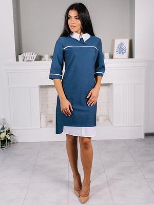 Платье бело-синее   5302740