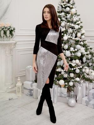 Платье черно-серебристое | 5302755