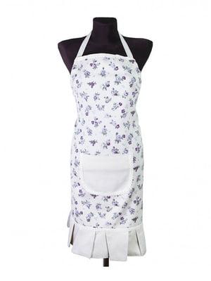 Фартух білий в квітковий принт | 5290466