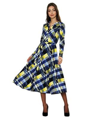 Платье синее с принтом   5303443