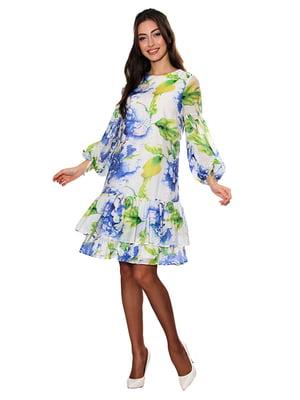 Платье белое с принтом   5303449