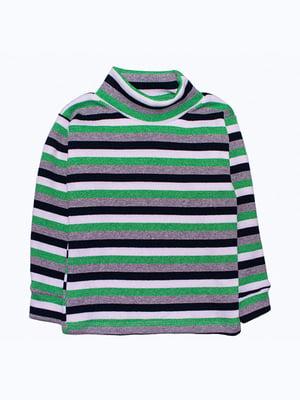Водолазка зелено-чорна | 5303565