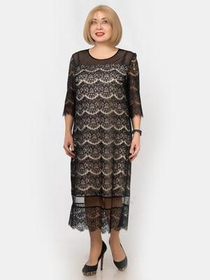 Платье черно-бежевое | 5303776