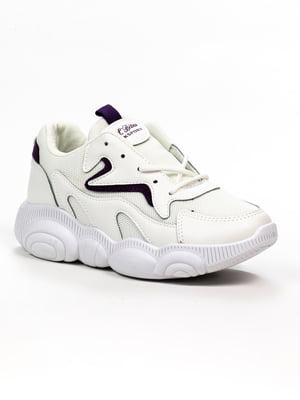 Кроссовки бело-сиреневые | 5302895