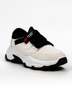 Кросівки біло-чорні | 5302872