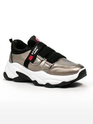 Кросівки бронзово-чорні | 5302871