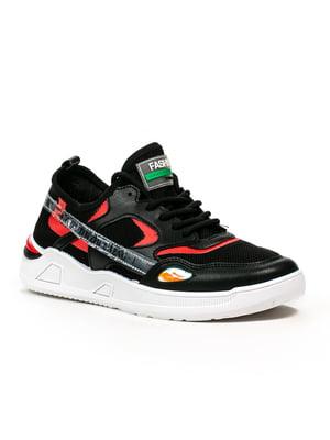 Кросівки чорно-червоні | 5302870