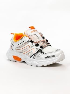 Кросівки біло-помаранчеві   5302832