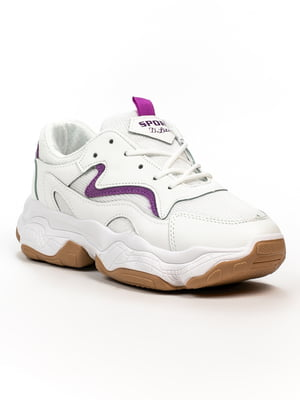 Кросівки біло-фіолетові | 5302875