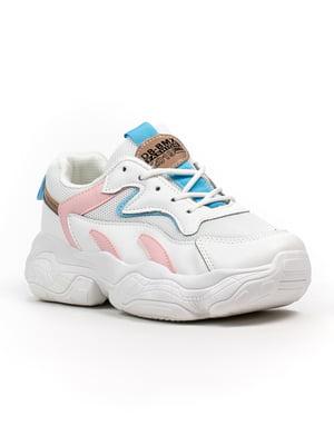 Кросівки біло-рожеві | 5302831