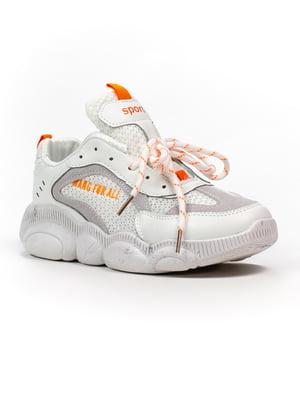 Кросівки біло-помаранчеві   5302839