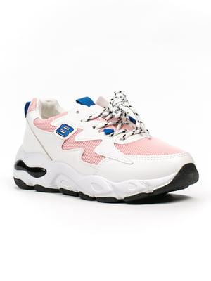 Кроссовки бело-розовые | 5302883
