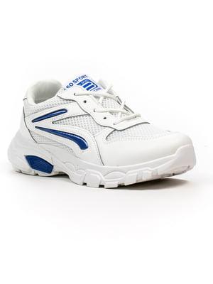 Кроссовки бело-синие | 5302859