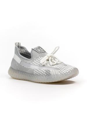 Кроссовки серо-белые   5302900
