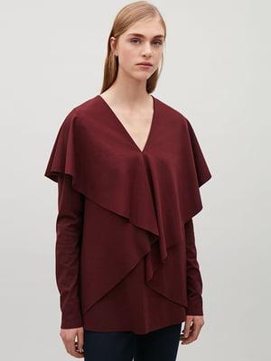 Блуза бордова | 5304412