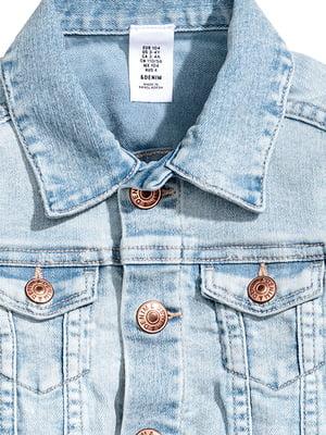 Куртка голубая джинсовая | 5304701