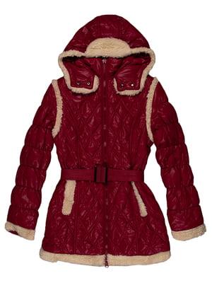 Пальто малинового кольору | 5303620