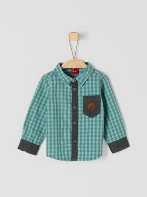 Рубашка бирюзовая | 5295938