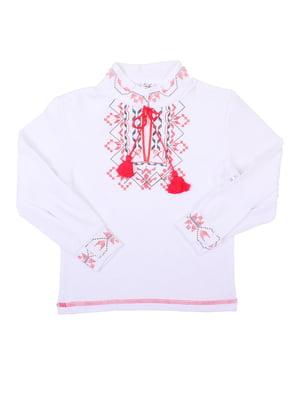 Рубашка-вышиванка белая | 5248355