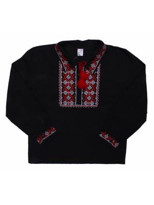 Рубашка-вышиванка черная | 5248356