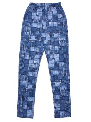 Леггинсы синие | 5282530