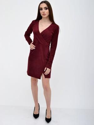 Платье бордовое | 5306302