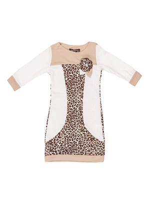 Сукня біло-бежева   5303897
