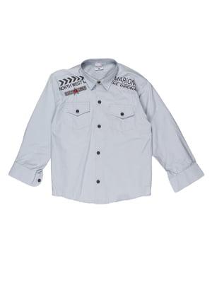 Рубашка светло-серая | 5303911