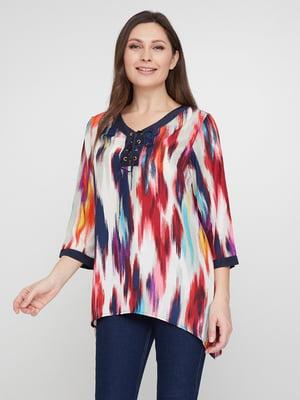 Блуза абстрактной расцветки | 5308521