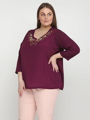 Блуза бордовая | 5308529