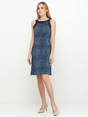 Сукня синя в принт | 5308555
