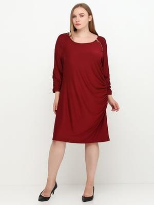 Сукня темно-бордова | 5308560