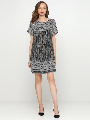 Сукня біла в геометричний принт | 5308578