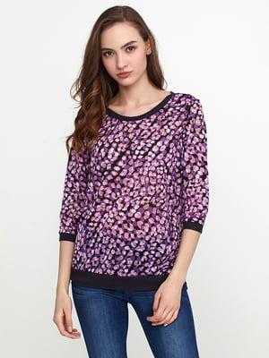 Блуза фиолетовая в принт | 5308589