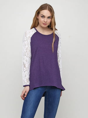 Реглан біло-фіолетовий | 5308609