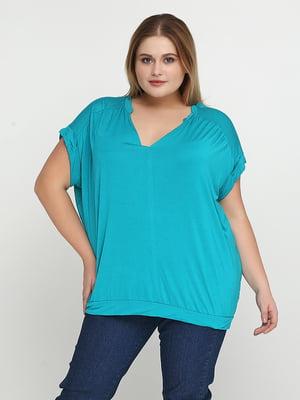 Блуза бирюзовая | 5308616